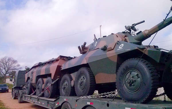 Armored vehicles, helicopters and close to a hundred other vehicles have been deployed to protect the forest.