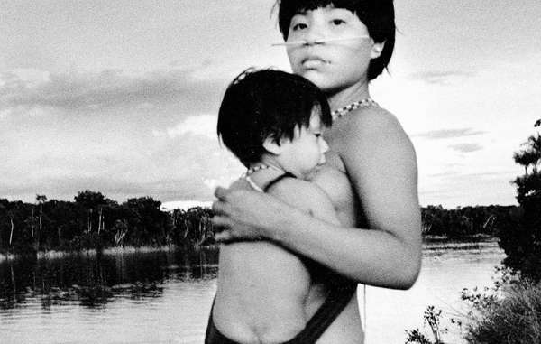 Yanomami mother and child.