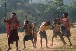 Dongria Kondh children dance, Niyamgiri