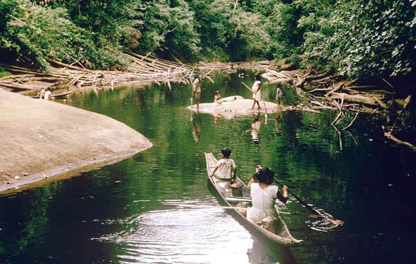 """The Akawaio and Arekuna fish in the Mazaruni river and its tributaries. The proposed dam would flood the tribes' land and forever destroy an area famed for its scenery and bio-diversity."""
