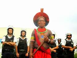 """Thousands of indigenous demonstrators in Brazil are protesting against the onslaught of their hard-won land rights."""