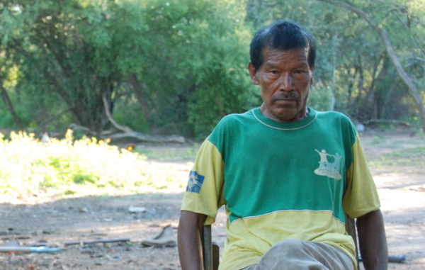 Chiri had suffered grave health problems after being forced from his forest home.