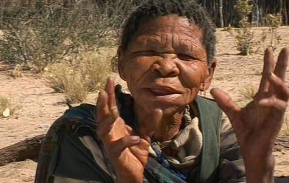 Bushman woman Xoroxloo Duxee from the Metsiamenong community, died of dehydration and starvation in 2005 after the government blockaded the reserve and armed guards prevented her people from hunting, gathering or obtaining water, Botswana.