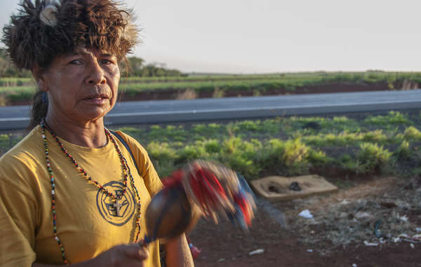 Guarani leader Damiana Cavanha led a land reoccupation effort in 2013 but her community were recently evicted by force