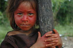 Ashéninka girl in south-east Peru