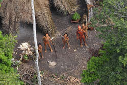 Uncontacted Indians in Acre state, western Brazil