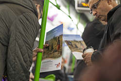 """Protestors handed out leaflets to visitors of the Adventure Travel Show in London."""
