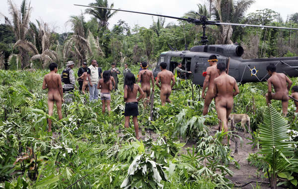 The Brazilian government sent helicopters, vehicles and a ground squad of hundreds of agents to remove illegal invaders from the Awá's forest.
