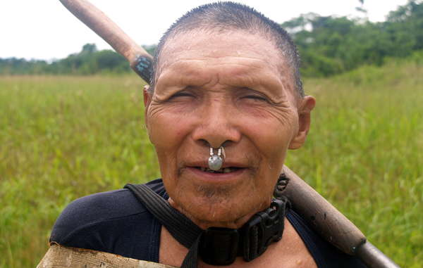 Recently-contacted Murunahua man, south-east Peru