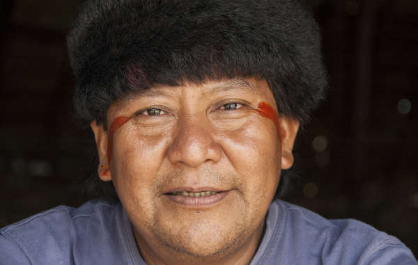 """Yanomami shaman and spokesman Davi Kopenawa was awarded Brazil's Order of Cultural Merit"""