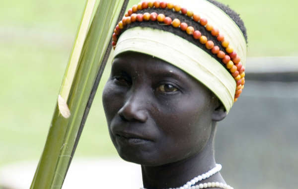Jarawa woman from the Andamans. Her tribe is at risk from &apos;human safaris&apos;.