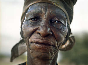 Xlarema Phuti is a Bushman healer who was forcibly evicted by the government of Botswana from her home in the Central Kalahari Game Reserve.