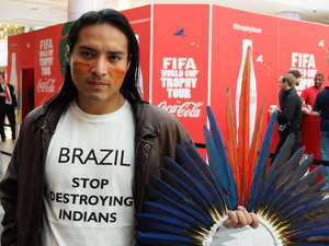 Nixiwaka Yawanawá protested against Brazil's attack on Indians' hard-won land rights.