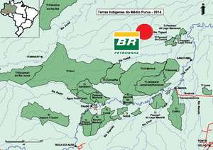 Petrobras has started exploring for oil and gas (red circle) in one of the most isolated parts of the Amazon.
