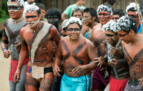 """The celebrations were held in the Yanomami community of Ajarani."""