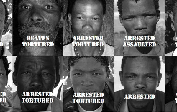 Bushmen have been arrested and tortured for hunting to feed their families.
