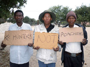 Bushmen are calling for President Khama to uphold their right to hunt on their ancestral land.