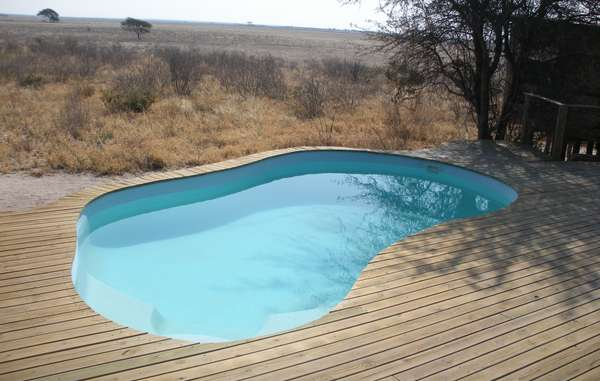 The pool of Wilderness Safaris&apos; new lodge in the CKGR.