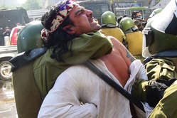 Mapuche protests are often met with a violent police response 