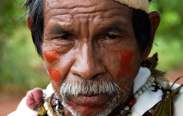 Guarani-Indianer protestierten gegen Raizens Aktivitten auf ihrem Land.