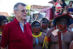 Dom Erwin Kräutler, Bischof von Xingu, wurde mir den Alternativen Nobelpreis ausgezeichnet.