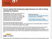 Notre site internet paralysé