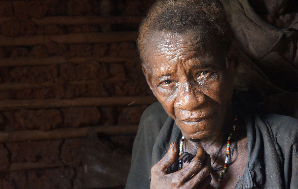 Wildlife officers attacked this woman with pepper spray and destroyed her cooking pots.
