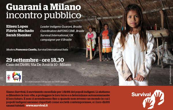 Lunedì 29 settembre, Eliseu Lopes, leader Guarani, sarà alla Casa dei Diritti di Milano per parlare del suo popolo e della resistenza della sua comunità alle continue violazioni dei diritti umani.