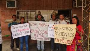 Ayoreo Indians protest at government inaction over illegal deforestation