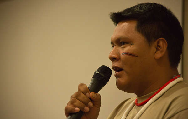"""Mauricio Yekuana joined Davi Yanomami in warning of the grave dangers of illegal mining on indigenous land."""