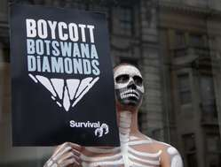 Survival is calling for a boycott of Botswana diamonds until the Bushmen are allowed water
