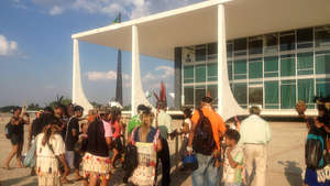 """We'll die for our lands"", Guarani Indians declare in Brazil's capital"