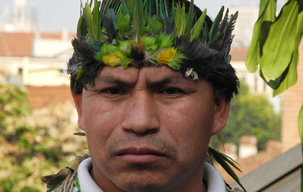 """A Guarani representative told the Pope his people are dying as they struggle for their land rights."""
