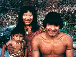 Family members of an Uru Eu Wau Wau group in Rondonia state, Brazil