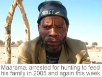 Maarama, arrested for hunting in 2005 and again this week