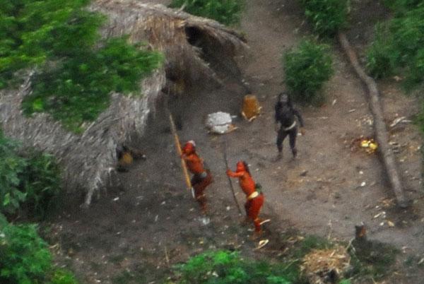 Foto de la tribu no contactada