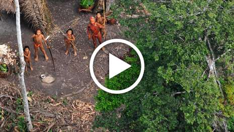 Uncontacted tribe: extraordinary aerial footage