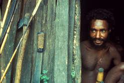 Un homme dani, Papouasie.