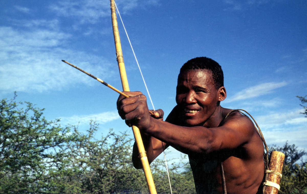 The Bushmen hunt for their survival yet they are accused of poaching.