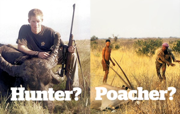 Survivals #HuntersNotPoachers campaign highlights the irony that tribal peoples are persecuted for hunting while trophy hunting is encouraged.