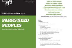 """Il dossier """"Parks Need Peoples"""", ovvero """"I parchi hanno bisogno dei popoli""""."""