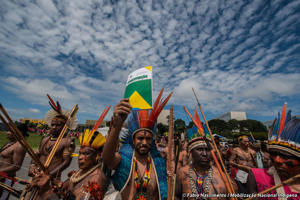 brazil  mass indian protests against assault on land