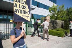 Protesta en la antesala de la Junta General de Accionistas de GSJ en Madrid. Junio de 2015.