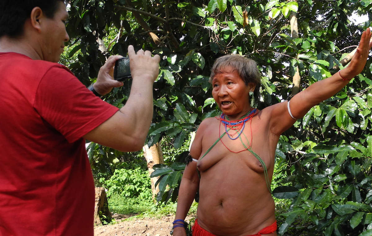 'We'll be able to communicate with people who live far away.' Mariazinha Yanomami, recording the first-ever message for Tribal Voice.