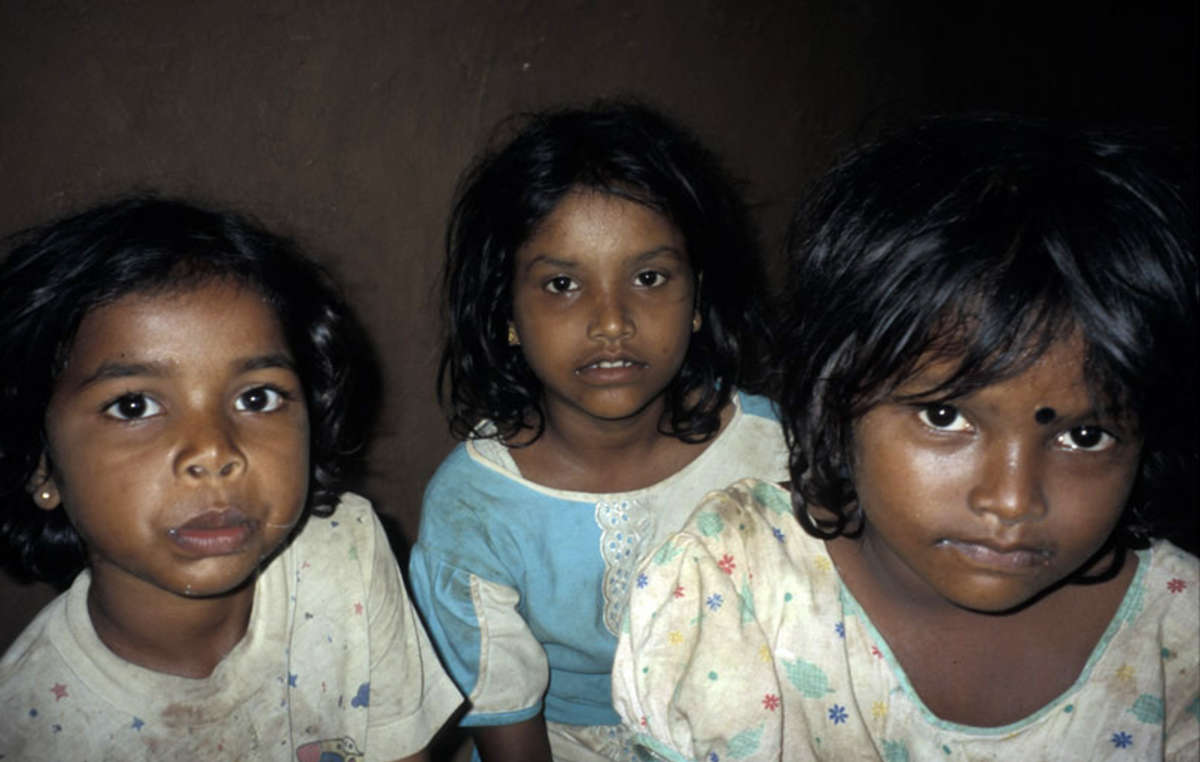 Wanniyala-Aetto children are now taught the language and religion of the dominant Sinhalese population.