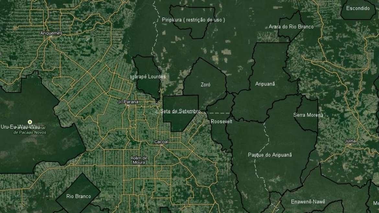 Wie Satellitenbilder zeigen, sind indigene Schutzgebiete im Amazonas die wichtigste Hürde gegen Abholzung.