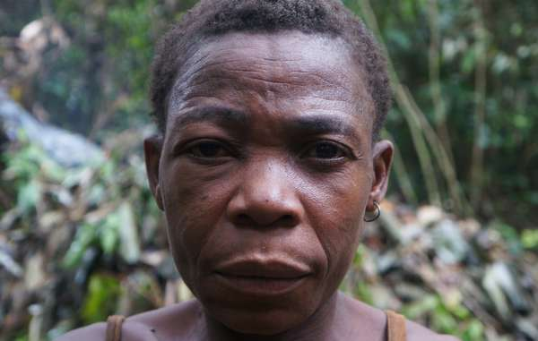 "A Baka ""Pygmy"" who couldn't stop her children being attacked by WWF-supported guards. The guards pick on the defenseless to avoid confronting powerful poachers, including government officials and ecoguards themselves."