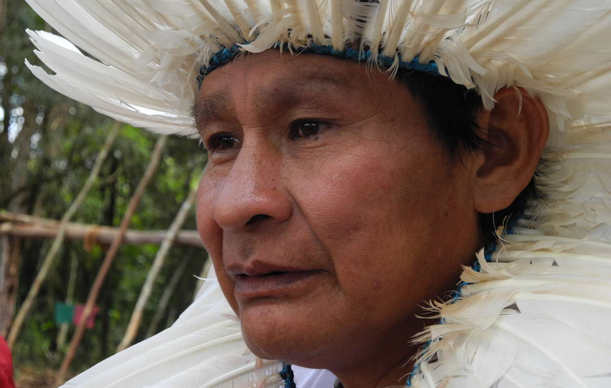 Adalto Guarani, leader of Laranjeira Nanderu community