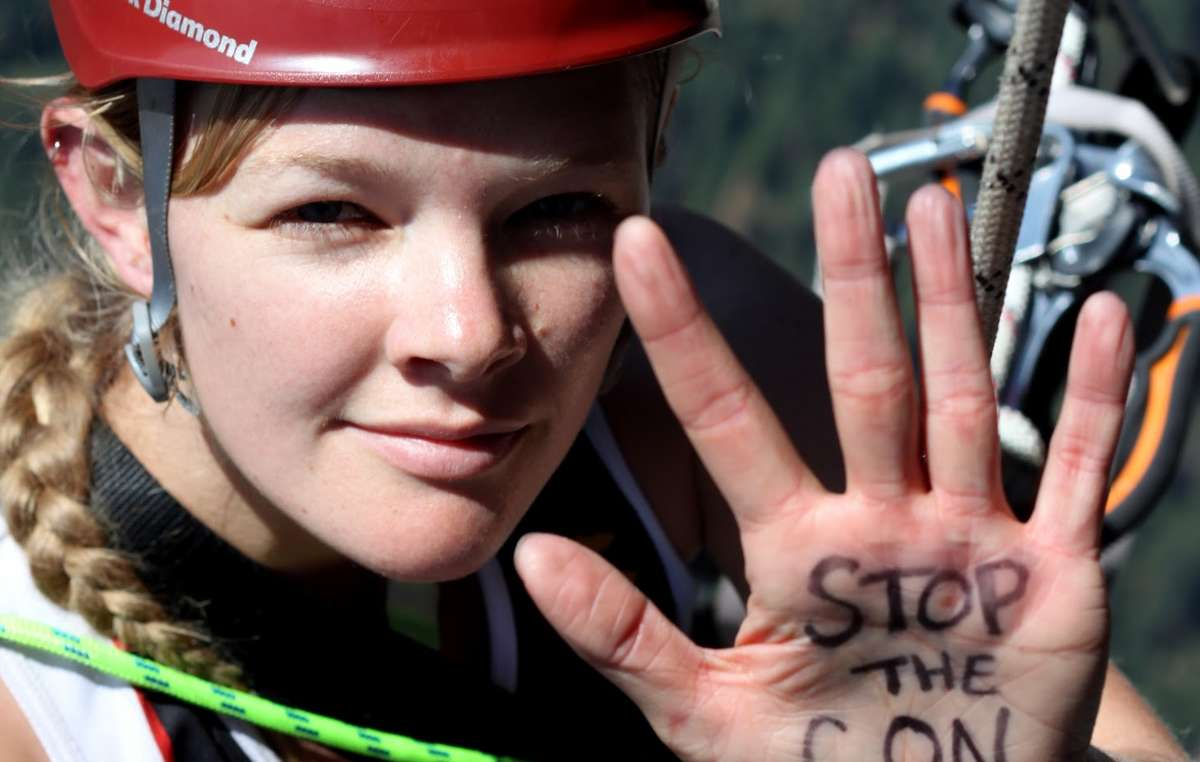 Tesia launched herself off El Capitan in Yosemite National Park to stop conservation crimes.