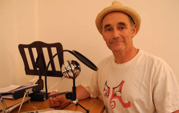 Award-winning actor Mark Rylance recording the narration for The Last of the Kawahiva.
